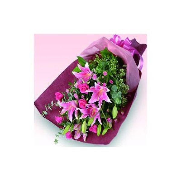 画像1: 【近江八幡市内へのお届け商品】ユリの花束 (1)