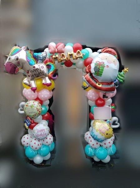 画像1: 【近江八幡市内へのお届け商品】お急ぎ!おまかせバルーンアーチ (1)