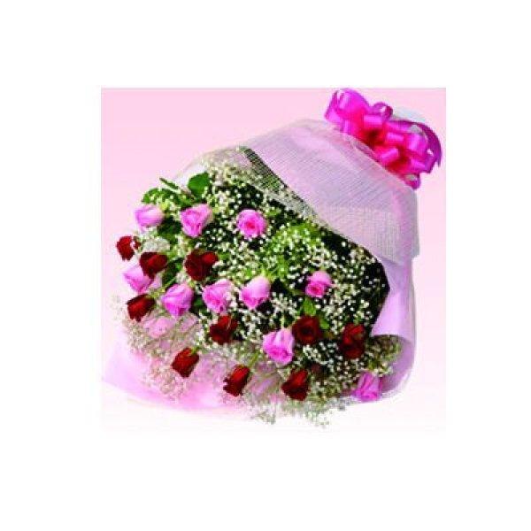 画像1: 【近江八幡市内へのお届け商品】ミックスバラの花束 (1)