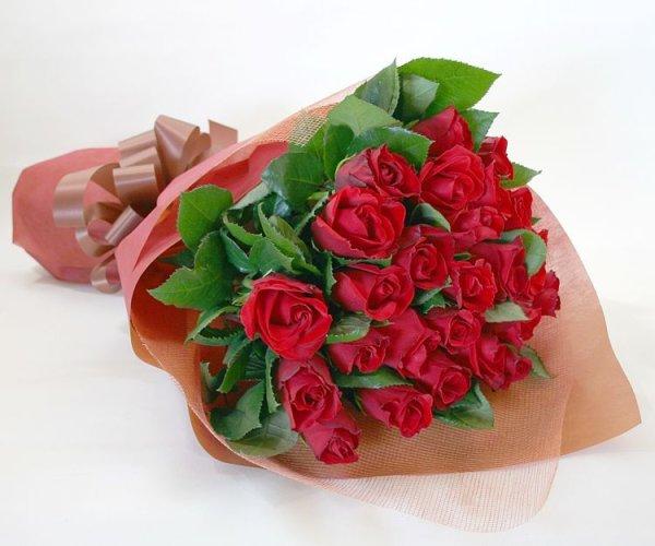 画像1: 花言葉 私のひとひらの愛 バラの花束20 (1)